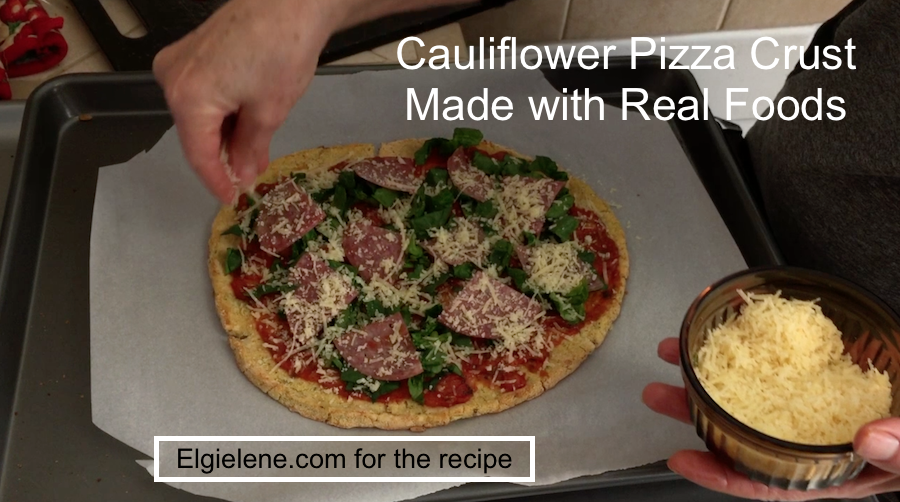 Cauliflower Gluten Free Pizza Crust